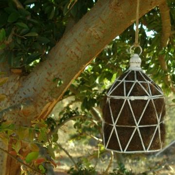 Geometric Bird Nester, Llama Fibre. Nesting Material to Attract Native Birds to your Garden,  Geometric Decor, EcoFriendly Gift, Garden Chic
