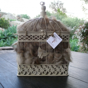 Bird Nester, Llama Fibre. Nesting Material to Attract Native Birds to your Garden - EXTRA LARGE birdcage - Mother's Day Gift, Nature play