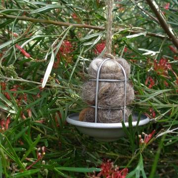 UFO Bird Nester, Llama Fibre. Native Bird Nester in Gift Box, Kids Nature Gift, Kids Yard Gift