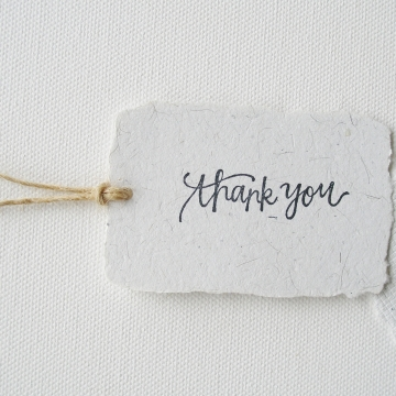 100 THANK YOU Tags, Llama Fibre and Recycled Paper