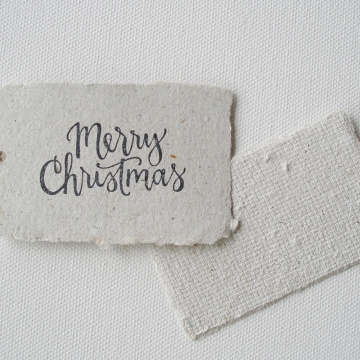 8 MERRY CHRISTMAS Llama Poo Tags, Recycled Gift Tags / Swing Tags with Deckle Edge for Xmas Gifts, Llama Gifts, Llama Products, Calligraphy