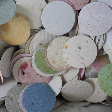 100 Small Circle Cut Outs - 3.5cm - Coloured Paper
