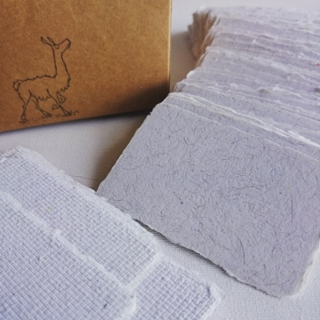 Alpaca Fibre Business Cards