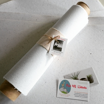 A3 Handmade recycled paper with llama fibre