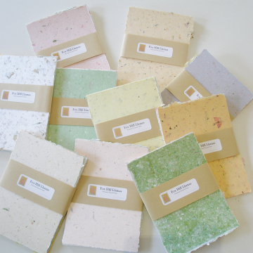 "10 x Packs of 4x6"" Sheets, Mixed Recycled Handmade Paper"