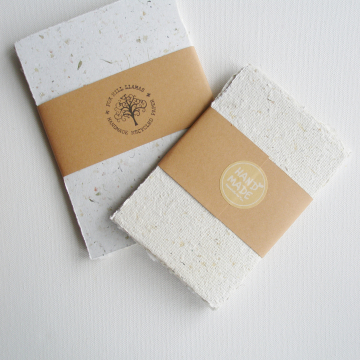 """10 x Packs of 5x7"""" Neutral Toned Sheets of Handmade Recycled Paper"""