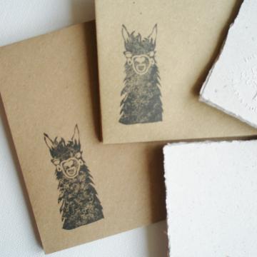 """7x5"""" Llama Poo Paper Letter Set - No. 18"""