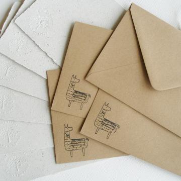 """7x5"""" Llama Poo Paper Letter Set - No. 16"""