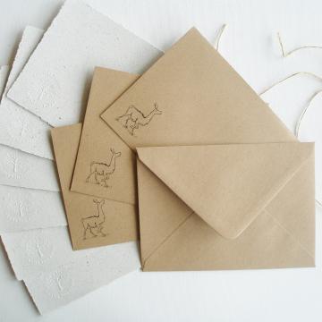 """7x5"""" Llama Poo Paper Letter Set - No. 14"""