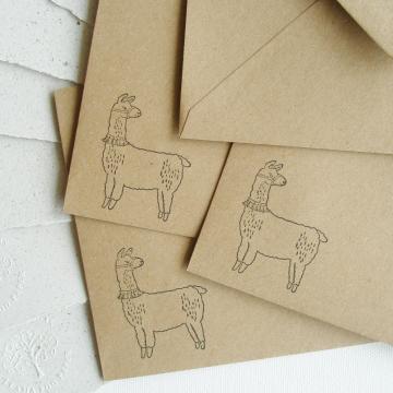 """7x5"""" Llama Poo Paper Letter Set - No. 13"""