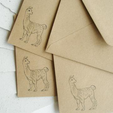 """7x5"""" Llama Poo Paper Letter Set - No. 12"""