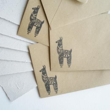 """6x4"""" Llama Poo Paper Letter Set - No. 9"""