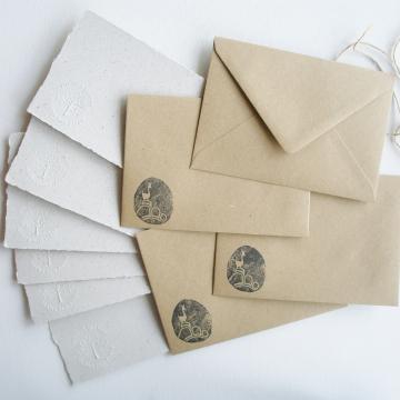 """Lot of 6 -  6x4"""" Llama Poo Paper Letter Set - No. 2"""