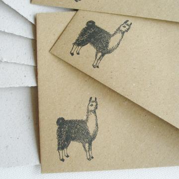 """Lot of 6 - 6x4"""" Llama Poo Paper Letter Set - No. 4"""