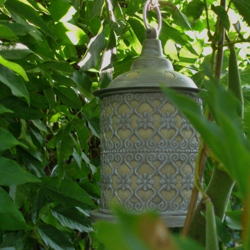 Bird Nester, Ornate Lantern, Llama Fibre Nesting Material, Garden Chic, Metal Outdoor lantern