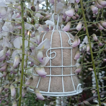 2 Christmas Bells, Bird Nesters, Garden Wedding Decor, Wedding Decor, Gift for the Bride, White Wedding, Wedding Decorations, Eco Wedding