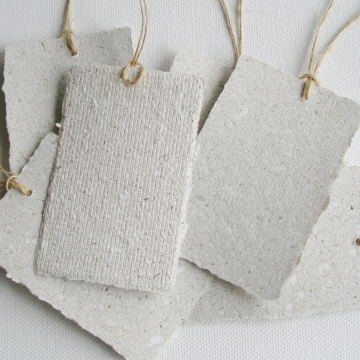 Recycled Paper with Llama Poo Tags. 12 Gift Tags / Swing Tags with Deckle Edge for Eco Friendly Gifts, Llama Gifts, Llama Products, Organic