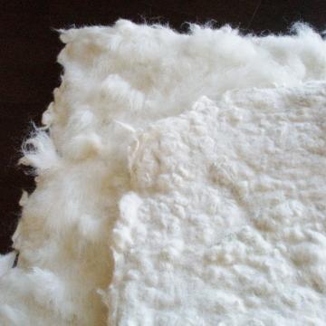 Alpaca Cat Bed / Mat. White Fleece Cat Bedding