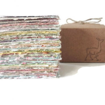 Note Paper - Handmade Recycled Note Paper - Gift Boxed Note Paper - Hand Torn Note Paper - 100 sheets - colourful paper 100 Pieces of Paper