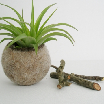 Llama Fibre Vessel - Gift Boxed Vessel - Felt Pod - Felted Pod - Felt Organizer - Rustic Decor - Mens Desk Accessory - Mens Gift