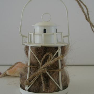 Lighthouse Garden Nester, Bird Nester, Native Birds Gift, Beach Decor, Beach Theme, Coastal Decor, Coastal Garden, Beach Decor
