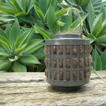 Nester, Llama Fibre. Nesting Material for Native Animals, Charcoal Outdoor lantern, Nature Garden, Nest Filler, Wildlife Nester, Natural