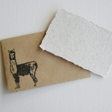 Mini Gift Card with Hand Stamped Brown Envelope