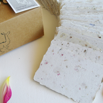 120 Handmade Business Cards - Blank Recycled Paper - Box of 120 - Gift Tags - Calling Card - Gift Card - Florists card - Attendance Cards