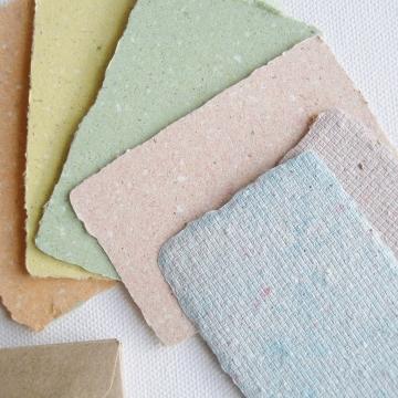 6 Coloured mini cards with llama poo and plain envelopes
