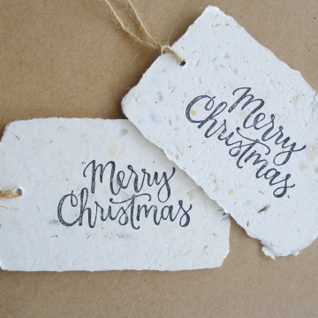 100 Merry Christmas Tags - Neutral Tones