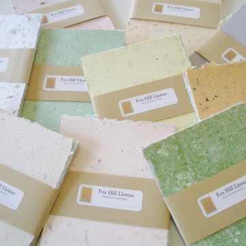 """10 x Packs of 4x6"""" Sheets, Mixed Recycled Handmade Paper"""