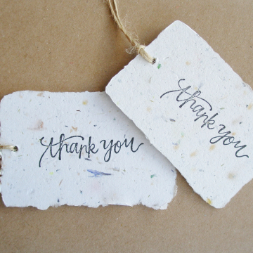100 THANK YOU Tags - Neutral Tones