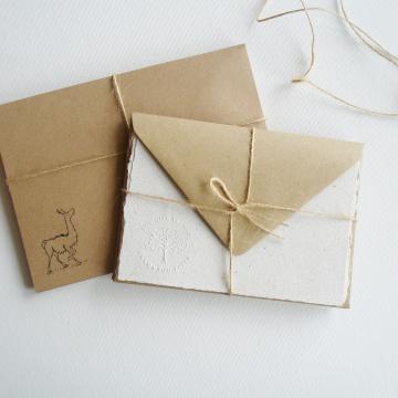 """Lot of 6 -  6x4"""" Llama Poo Paper Letter Set"""