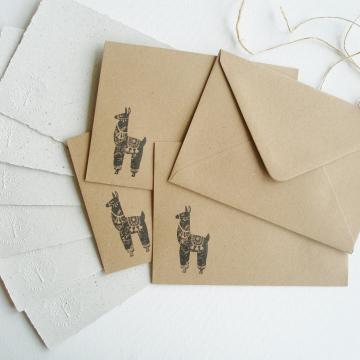 """7x5"""" Llama Poo Paper Letter Set - No. 17"""