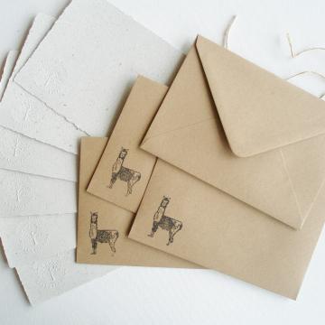 """7x5"""" Llama Poo Paper Letter Set - No. 15"""