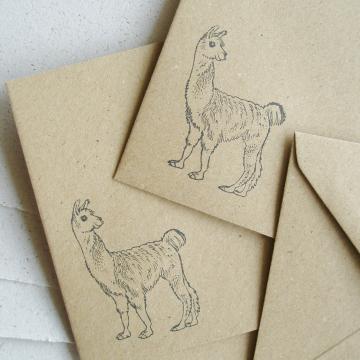 """Lot of 6 - 6x4"""" Llama Poo Paper Letter Set - No. 8"""