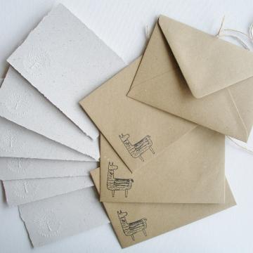 """Lot of 6 - 6x4"""" Llama Poo Paper Letter Set - No. 5"""
