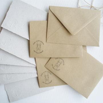 """Lot os 6 -  6x4"""" Llama Poo Paper Letter Set - No. 3"""